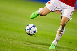 Ball and legs of Laurent Koscielny #6 of Arsenal F.C. during football match between GNK Dinamo Zagreb, CRO and Arsenal FC, ENG in Group F of Group Stage of UEFA Champions League 2015/16, on September 16, 2015 in Stadium Maksimir, Zagreb, Croatia. Photo by Urban Urbanc / Sportida