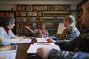 Nancy LeVant leads an English as a Second Language class at the Ellison Park Apartments in Rochester, New York on Tuesday, January 3, 2017. The complex is a Naturally Occurring Retirement Community, or NORC, home to many Russian and Ukrainian immigrants.