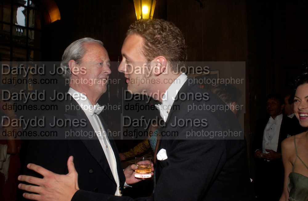 The Duke of Marlborough and Lord Edward Spencer-Churchill, Ball at Blenheim Palace in aid of the Red Cross, Woodstock, 26 June 2004. SUPPLIED FOR ONE-TIME USE ONLY-DO NOT ARCHIVE. © Copyright Photograph by Dafydd Jones 66 Stockwell Park Rd. London SW9 0DA Tel 020 7733 0108 www.dafjones.com