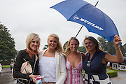 Lady Racegoers at Ladies Day, Fontwell Park Racecourse, Arundel, United Kingdom on 13 August 2015. Photo by Phil Duncan.