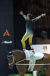 Lukas Heppler, (SUI), Waimar CH, Barbara Zurcher - Individuals Men Freestyle Vaulting - Alltech FEI World Equestrian Games™ 2014 - Normandy, France.<br /> © Hippo Foto Team - Jon Stroud<br /> 03/09/2014