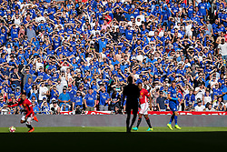 Leicester City fans look on - Rogan Thomson/JMP - 07/08/2016 - FOOTBALL - Wembley Stadium - London, England - Leicester City v Manchester United - The FA Community Shield.
