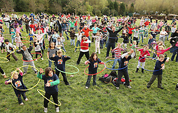 Over 300 children set a new Guinness World Record for The World's Biggest Hula Hoop Dance Routine and marked the DVD release of the family comedy Alvin and The Chipmunks at Chessington World of Adventure in London.