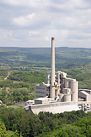 View of the Hope Valley and the Blue Circle cement works part of the Lafarge Group....