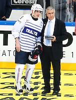 Yohann Auvitu / Luc Tardiff - 07.05.2015 - Republique Tcheque / France - Championnat du Monde de Hockey sur Glace <br />Photo : Xavier Laine / Icon Sport