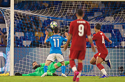 NAPLES, ITALY - Tuesday, September 17, 2019: SSC Napoli's Hirving Lozano scores a goal but it is disallowed during the UEFA Champions League Group E match between SSC Napoli and Liverpool FC at the Studio San Paolo. (Pic by David Rawcliffe/Propaganda)