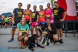 Runners at 10th Nocna 10ka 2016, traditional run around Bled's lake, on July 09, 2016 in Bled,  Slovenia. Photo by Grega Valancic / Sportida