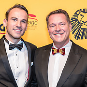 NLD/Scheveningen/20161030 - Premiere musical The Lion King, Albert Verlinde en partner Kevin Brouwer
