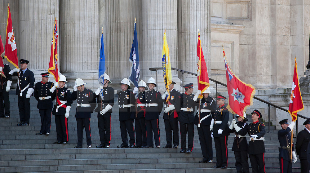 © Licensed to London News Pictures. 11/09/2011. London, UK. Remembering with Hope. A special service at St Paul's Cathedral to mark the 10th anniversary of the 9/11 attacks in the US and the 20th anniversary of the Firefighters Memorial Trust.  Photo credit: Bettina Strenske/LNP