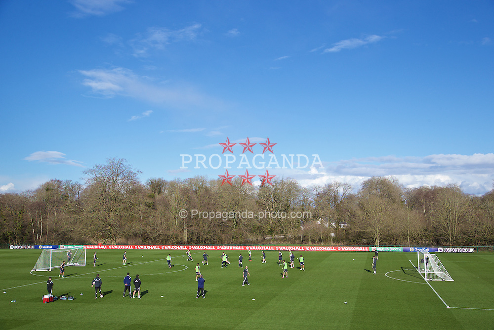 CARDIFF, WALES - Tuesday, March 24, 2015: Wales' players during a training session at the Vale of Glamorgan ahead of the UEFA Euro 2016 qualifying Group B match against Israel. (Pic by David Rawcliffe/Propaganda)