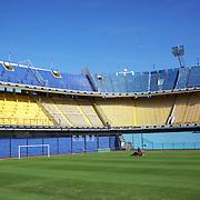 The famous Boca Juniors football stadium, La Bombonera, in La Boca region of Buenos Aires, Argentina, 25th June 2010. Photo Tim Clayton..