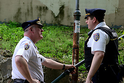 SEPTA service on the Chestnut Hill West line is temporary halted as Police investigates after a conductor suffered a gunshot wound to the hip, in the Mt Airy neighborhood of Philadelphia, PA, on May 10, 2019. Septa Police Chief Thomas J. Nestel (pictured left) says the victim was transported to a nearby hospital were he is listed in stable condition while the gunman remains at large.