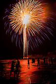 Charleston Beach Fireworks
