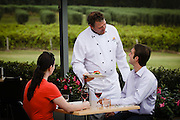 Outdoor dining, Adina Vineyard, Hunter Valley, NSW, Australia