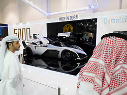 the Dubai Motor Show 2013 United Arab Emirates Devel prototype supercar at the Dubai Motor Show 2013 United Arab Emirates