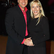 CD presentatie Frans Bauer, en zwangere vrouw Mariska Rossenberg