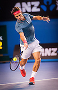 Roger Federer of Switzerland faced R. Nadal of Spain in the 2014 Australian Open Mens Singles semifinals. Nadal won the match 7-6, 6-3, 6-3. Nadal faces S. Wawrinka of Switzerland in Sunday's finals.The match was held at Melbourne's Rod Laver Arena.