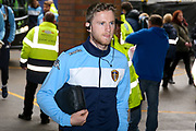 Leeds United midfielder Eunan O'Kane (14) arrives at the stadium during the EFL Sky Bet Championship match between Sheffield Wednesday and Leeds United at Hillsborough, Sheffield, England on 1 October 2017. Photo by Simon Davies.
