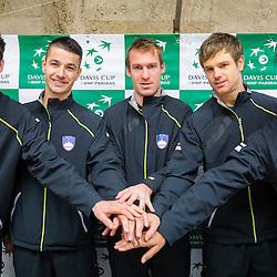 20140130: SLO, Tennis - Davis Cup, Slovenia vs Portugal Draw Ceremony