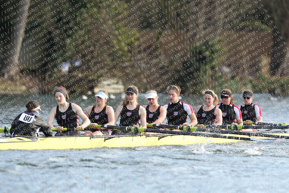 2012.02.25 Reading University Head 2012. The River Thames. Division 1. Thames Rowing Club W.Sen8+
