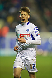 BIRKENHEAD, ENGLAND - Saturday, January 3, 2015: Tranmere Rovers' James Rowe in action against Swansea City during the FA Cup 3rd Round match at Prenton Park. (Pic by David Rawcliffe/Propaganda)