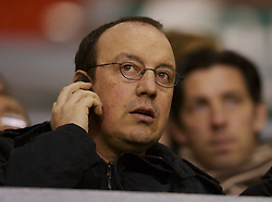 Liverpool, England - Friday, January 26, 2007: Liverpool's manager Rafael Benitez watches the youth team beat Reading 1-0 during the FA Youth Cup 5th Round match at Anfield. (Pic by David Rawcliffe/Propaganda)