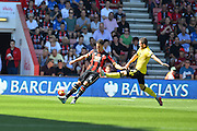 AFC Bournemouth's Captain Tommy Elphick during the Barclays Premier League match between Bournemouth and Aston Villa at the Goldsands Stadium, Bournemouth, England on 8 August 2015. Photo by Mark Davies.