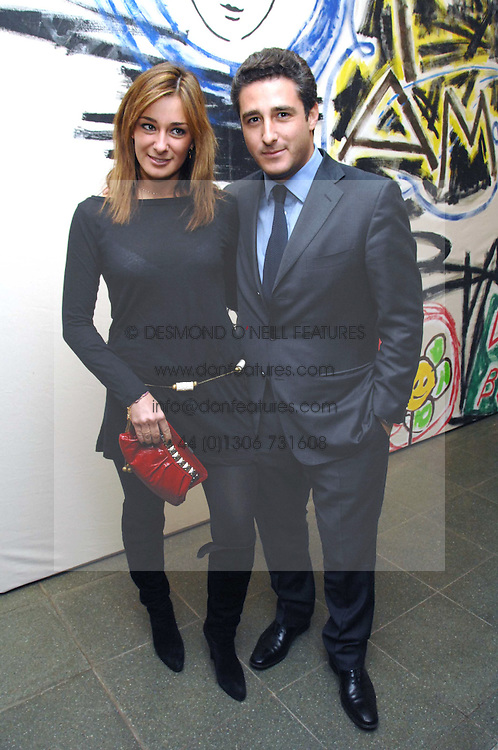 LUCA DEL BONO and his sister MELISSA DEL BONO at a party to celebrate the publication of Vivienne Westwood's Opus held at The Serpentine Gallery, Kensington Gardens, London W2 on 12th February 2008.<br />
