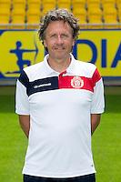 Lokeren's assistant coach Patrick Van Houdt poses during the 2015-2016 season photo shoot of Belgian first league soccer team Lokeren, Monday 06 July 2015 in Lokeren.