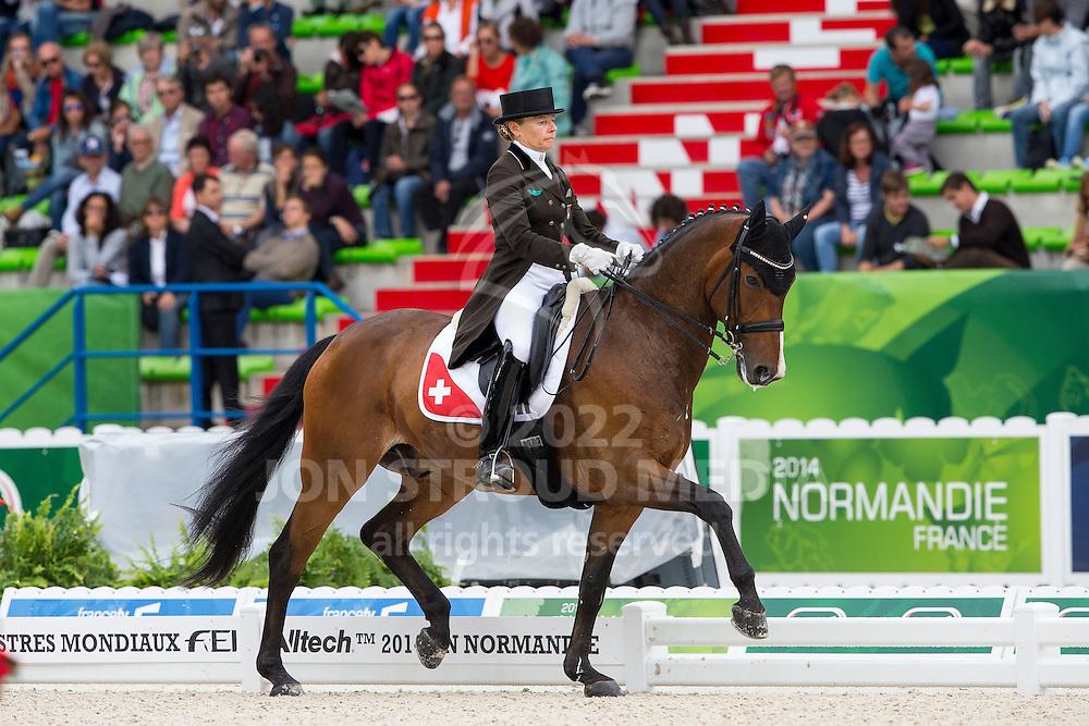 Marcela Krinke Susmelj, (SUI), Smeyers Molberg - Grand Prix Special Dressage - Alltech FEI World Equestrian Games&trade; 2014 - Normandy, France.<br /> &copy; Hippo Foto Team - Leanjo de Koster<br /> 25/06/14