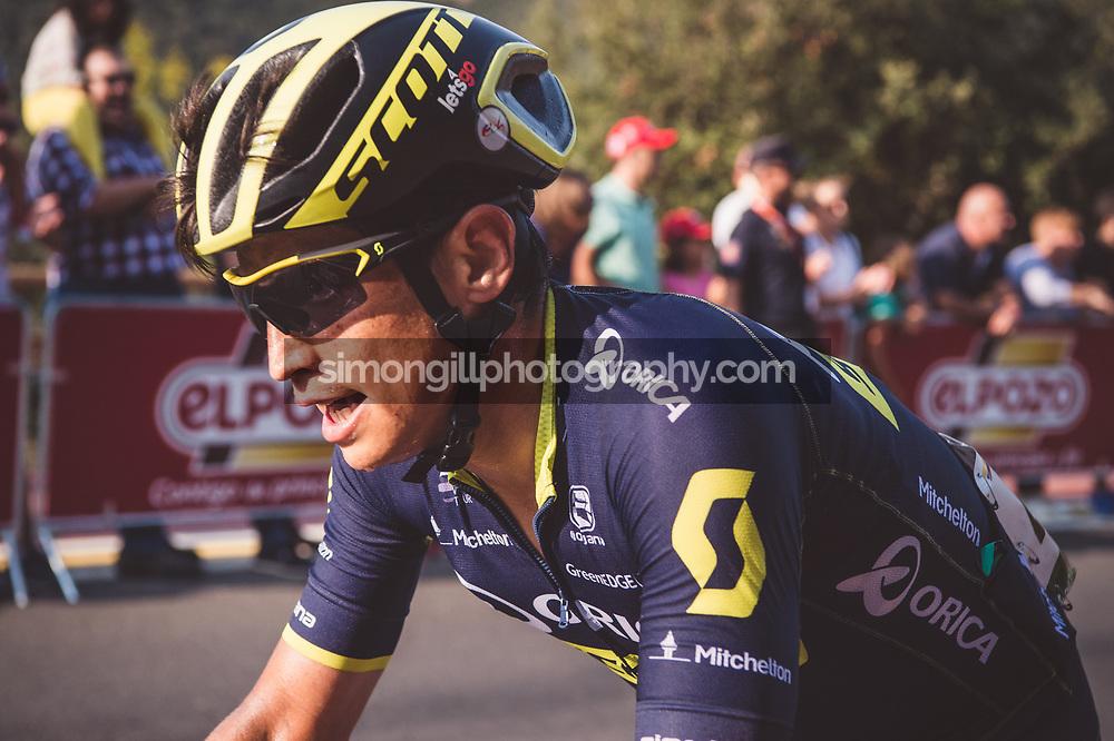 September 7th 2017, Suances to Santo Toribio de Liébana, Spain; Cycling, Vuelta a Espana Stage 18; Esteban Chaves