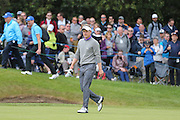 Luke Donald of England on the 18th green during the BMW PGA Championship at Wentworth Club, Virginia Water, United Kingdom on 29 May 2016. Photo by Phil Duncan.