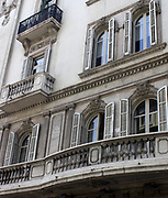 Balcony on building. Barcelona. Spain 2013