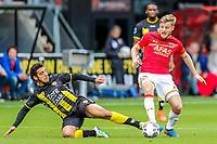 ALKMAAR - 22-10-2017, AZ - FC Utrecht, (L-R) Yassin Ayoub of FC Utrecht, Jonas Svensson of AZ Alkmaar