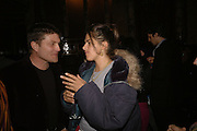 Kenny Goss and TRACEY EMIN, Viewing of 'Petit Mal'  by Paul Fryer. The Grecian Temple. Great Eastern Hotel. 40 Liverpool St. London. EC2M 7QN. ONE TIME USE ONLY - DO NOT ARCHIVE  © Copyright Photograph by Dafydd Jones 66 Stockwell Park Rd. London SW9 0DA Tel 020 7733 0108 www.dafjones.com