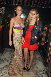 Left to right, ANDREA DELLAL and her daughter ALICE DELLAL at a dinner hosted by fashion label Issa at Annabel's, Berekely Square, London on 24th April 2007.<br />
