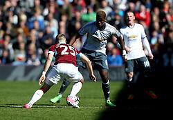 Paul Pogba of Manchester United takes on Johann Gudmundsson of Burnley - Mandatory by-line: Robbie Stephenson/JMP - 23/04/2017 - FOOTBALL - Turf Moor - Burnley, England - Burnley v Manchester United - Premier League