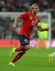Norway's Per Ciljan Skjelbred  - Photo mandatory by-line: Alex James/JMP - Mobile: 07966 386802 - 3/09/14 - SPORT - FOOTBALL - London - Wembley Stadium - England v Norway - International Friendly