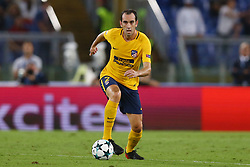 September 12, 2017 - Rome, Italy - Diego Godin of Atletico  during the UEFA Champions League Group C football match between AS Roma and Atletico Madrid on September 12, 2017 at the Olympic stadium in Rome. (Credit Image: © Matteo Ciambelli/NurPhoto via ZUMA Press)