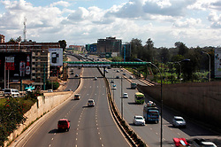 Photo taken on May 1, 2014 shows the Nairobi-Thika Superhighway in Nairobi, capital of Kenya. Constructed at a cost of 360 million dollars, the 51-km-long road was completed in 2012 by three Chinese companies. EXPA Pictures © 2015, PhotoCredit: EXPA/ Photoshot/ Xinhua<br /> <br /> *****ATTENTION - for AUT, SLO, CRO, SRB, BIH, MAZ only*****