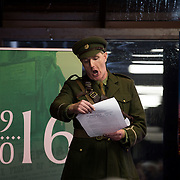 08/12/2015                <br /> Limerick City & County Council launches Ireland 2016 Centenary Programme<br /> <br /> An extensive programme of events across the seven programme strands of the Ireland 2016 Centenary Programme was launched at the Granary Library, Michael Street, Limerick, last night (Monday, 7 December 2015) by Cllr. Liam Galvin, Mayor of the City and County of Limerick.<br /> <br /> Led by Limerick City & County Council and under the guidance of the local 1916 Co-ordinator, the programme is the outcome of consultations with interested local groups, organisations and individuals who were invited to participate in the planning and implementation of events and initiatives during 2016.  <br /> <br /> Actor Mike Finn pictured before reading the proclamation. Picture: Alan Place