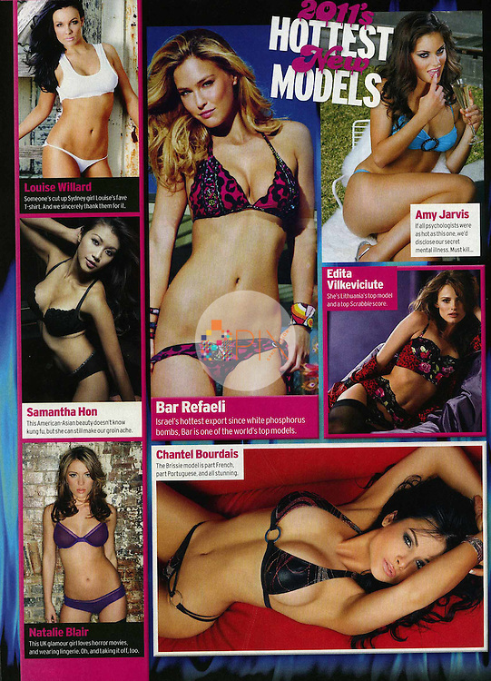 Samantha Hon (left, middle) features as one of the 'Hottest New Models of 2011'  in Zoo Weekly magazine, Australia.  <br />