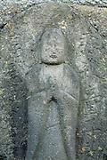 Sekibutu, stone Buddha, late Edo period