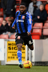 Swindon's Tijane Reis  - Photo mandatory by-line: Mitchell Gunn/JMP - Tel: Mobile: 07966 386802 22/02/2014 - SPORT - FOOTBALL - Brisbane Road - Leyton - Leyton Orient V Swindon Town - League One