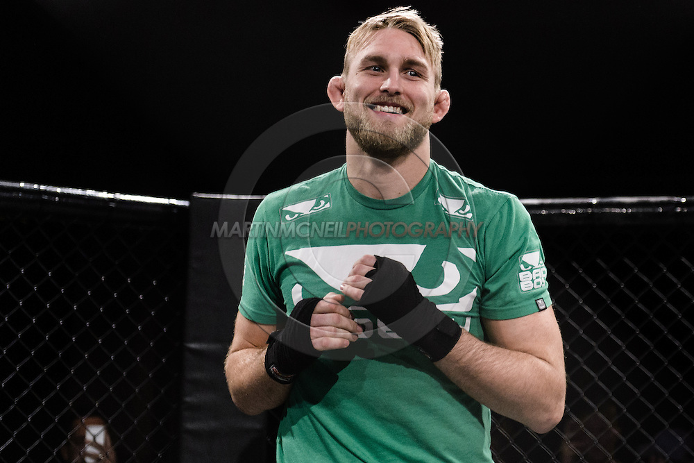 """LONDON, ENGLAND, MARCH 5, 2014: Alexander Gustafsson is pictured at the media open work-out sessions for """"UFC Fight Night: Gustafsson vs. Manuwa"""" inside One Embankment in London, England (Martin McNeil for ESPN)"""