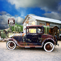 Old car in USA on Route 66