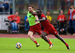 ROTTACH-EGERN, GERMANY - Friday, July 28, 2017: Liverpool's Andy Robertson and Sadio Mane during a training session at FC Rottach-Egern on day three of the preseason training camp in Germany. (Pic by David Rawcliffe/Propaganda)