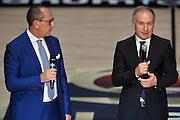 Egidio Bianchi, Gianni Petrucci<br /> Presentazione Campionato Lega Basket 2016-2017<br /> Basket Serie A  2016<br /> Milano 26/09/2016<br /> Foto Ciamillo-Castoria