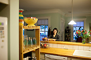 Jennifer Kuzara and her parents bought a foreclosed Atlanta home for under $50,000 and completely renovated the three bedroom, 2 bathroom home. She said the home-buying and renovating process became a full-time job for the past year. The house was a duplex when she bought it and she knocked down the dividing wall, which would have ran next to the kitchen.