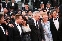 Jury members at the 65th Cannes Film Festival attend the opening gala screening of the film Moonrise Kingdom. Wednesday 16th May 2012, the red carpet at Palais Des Festivals in Cannes, France.